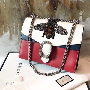 Gucci Crystal Bee Embellished Dionysus Chain Bag